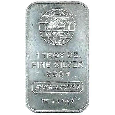 1 Troy Oz Fine Silver 999 Engelhard Value September 2019