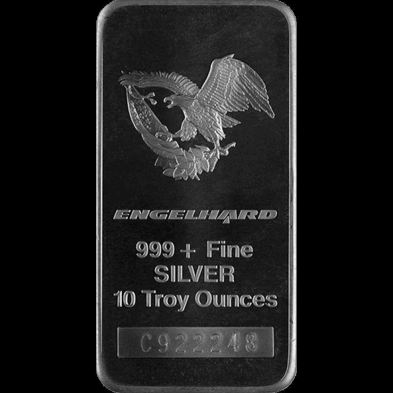 10 Oz 999 Engelhard Silver Bar